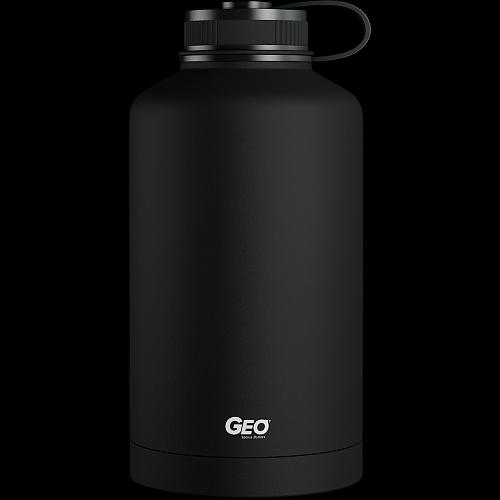 Нержавеющая бутылка/термос с покрытием, 1,8 л, черная